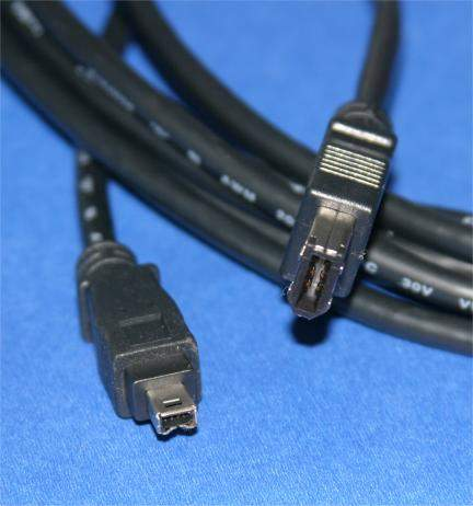 15FT FIREWIRE CABLE BLACK 6PIN 4PIN