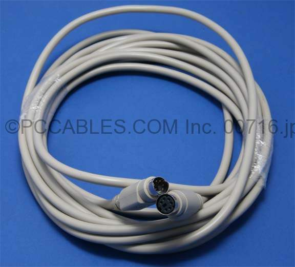15FT Keyboard Mouse extension Cable MiniDin6 Male to Female PS/2 PS2