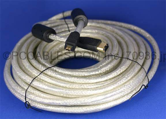 50FT FIREWIRE Cable 6PIN 4PIN