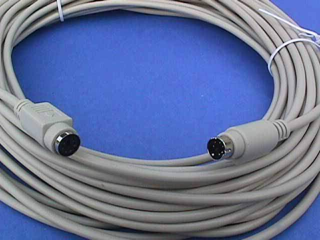 50FT KEYBOARD-MOUSE EXTENSION CABLE DIN6 Male to Female PS2