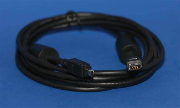 6FT Firewire Cable Black 6pin 4pin with Ferrite
