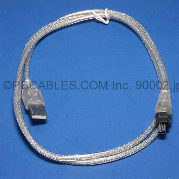 Firewire to USB Cable 6ft Silver Unknown Usage