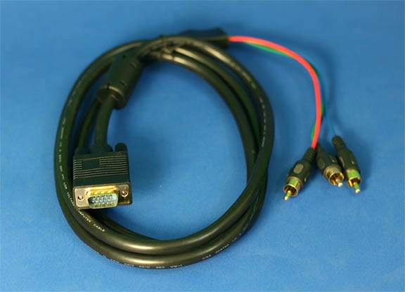 HDTV 3-RCA TRIPLE SHIELDED COMPONENT BREAKOUT CABLE 6FT