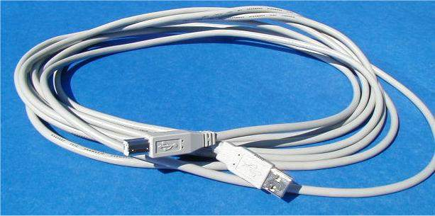 USB CABLE TYPE A to TYPE B CABLE 15FT