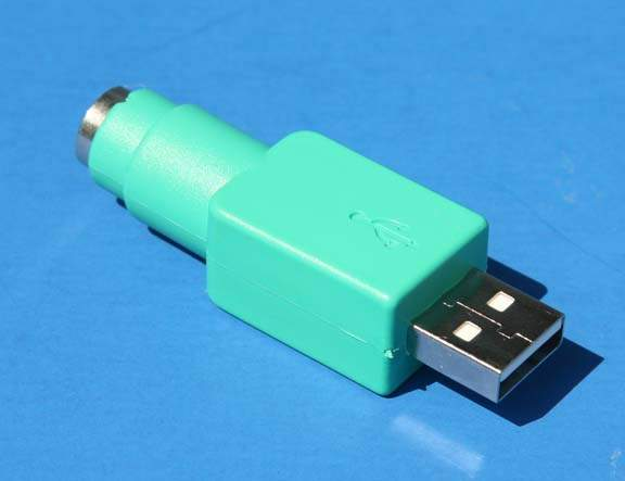 USB Type A Male to PS2 Mini DIN6 Female Mouse Adapter